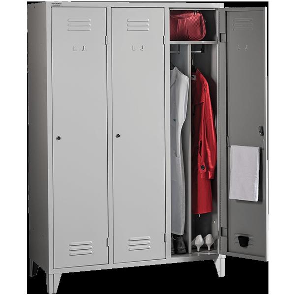 Garderobenschränke mit Trennwand   metaloBox